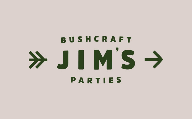Jim's Bushcraft Parties | Branding and Web Design by London based freelance graphic designer Steve Reynolds